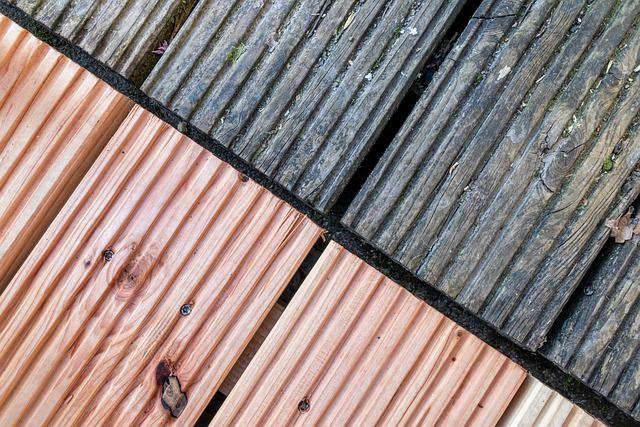 Terrassendielen Douglasie alt und neu